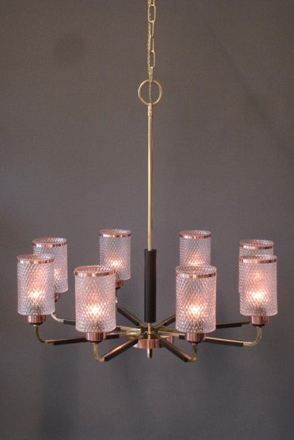 Vintage Scandinavian 8 arm Chandelier-empel-collections-Vintage sixties chandelier brass and glass-004_main_635998700458565351.JPG