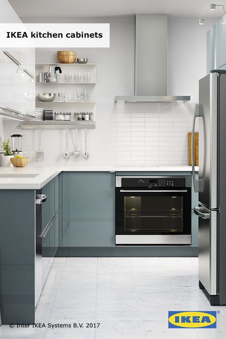 IKEA cabinets work (and look) smart. Kitchen cabinets that suit you ...