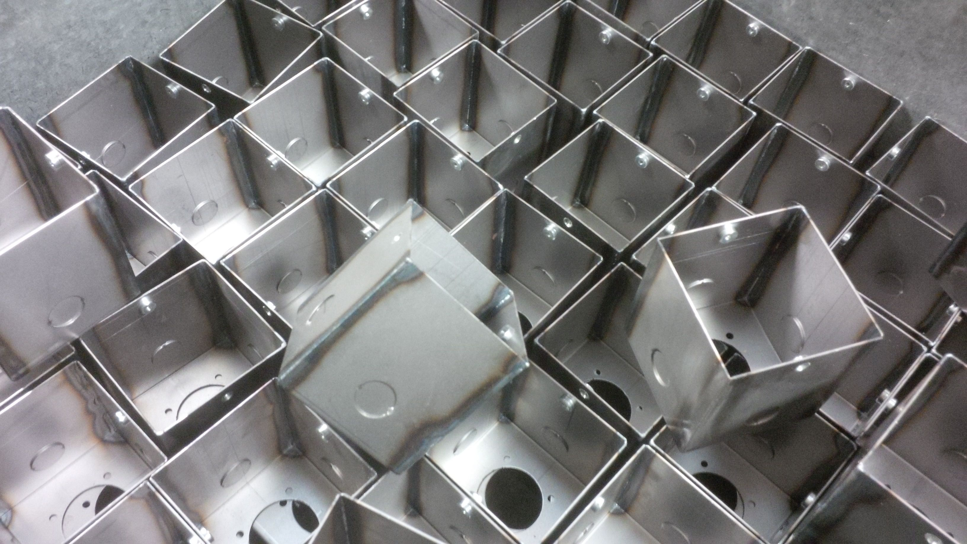 Sheet Metal Boxes Manufactured From Mild Steel With Seam Welded Joints Www Vandf Co Uk Sheet Metal Work Metal Working Sheet Metal