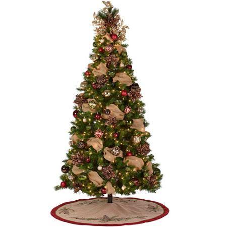 7 1 2 Pre Lit Kennedy Fir Christmas Tree With Natural Splendor Decoration Kit Walmart Com Fir Christmas Tree Decoration Kit Christmas Tree