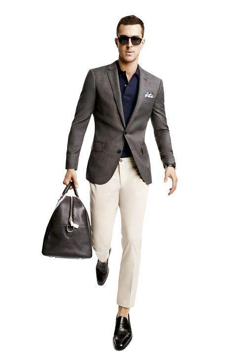 men 39 s dark brown blazer navy polo beige chinos black. Black Bedroom Furniture Sets. Home Design Ideas