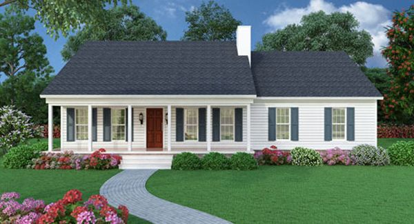 Sutherlin Small Ranch 5458 3 Bedrooms And 2 5 Baths The House Designers Ranch House Plan New House Plans Basement House Plans