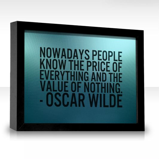 http://www.permanent-magnet-generator.info/edisons-current-review.html Edison's Current professional review. Oscar Wilde, on the value of things