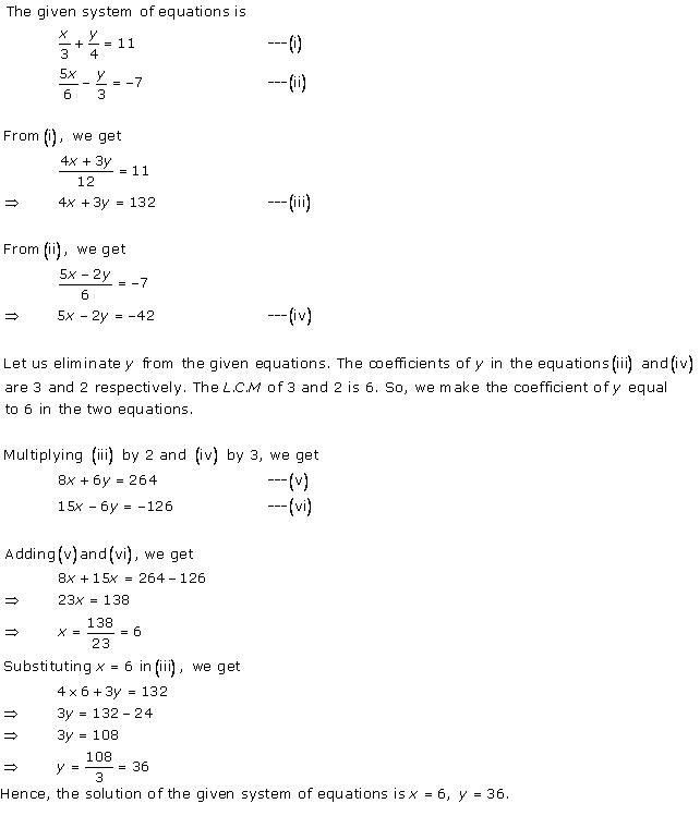 Pair Of Linear Equations In Two Variables Class 10 Solutions Exercise 3 3 Linear Equations Quadratic Equation Quadratics