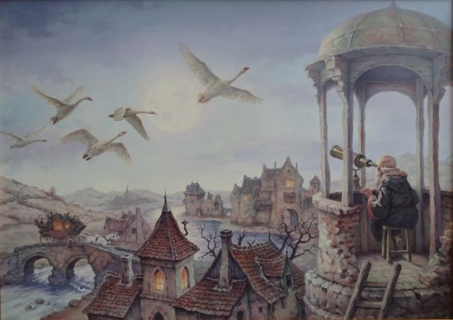 What the Moon tales (Miről mesél a Hold) - artist: Szász Endre László