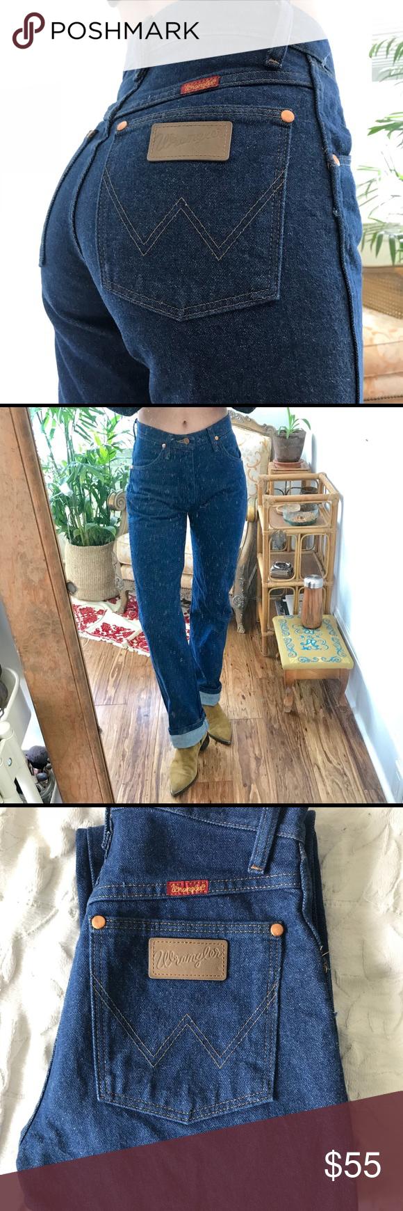 bebf43d7 Vintage WRANGLERS, Cowboy Fit Amazing Vintage condition 100% cotton rigid  denim High waist Modern