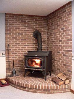 Corner Wood Stove Hearth Ideas Corner Wood Stove Brick Hearth Wood Stove Fireplace