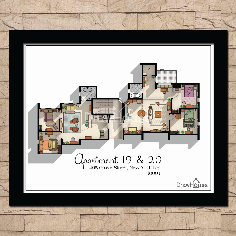Friends Apartment Floor Plan Tv Show Floor Plan