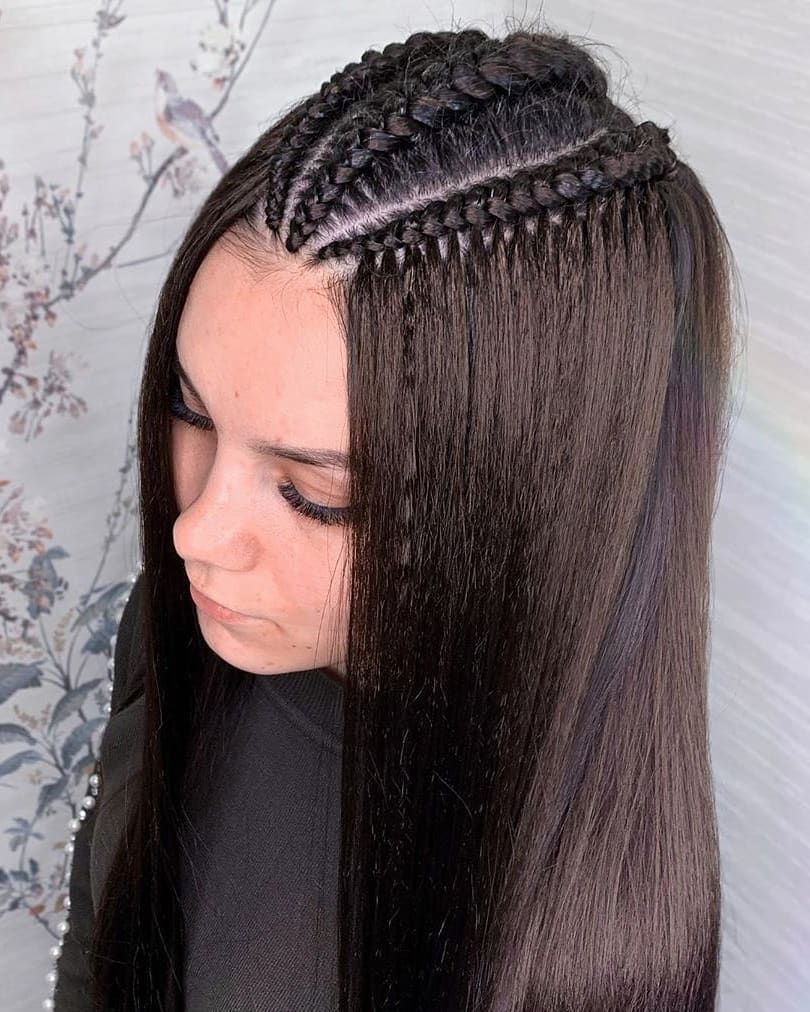 Simple Easy Braids Hairstyles For Straight Long Hair In 2020 Braided Hairstyles Easy Straight Weave Hairstyles Braided Hairstyles