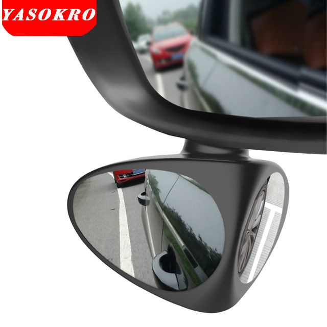 Car Wide Angle Adjustable Convex Rear View Blind Spot Mirror #wideangle