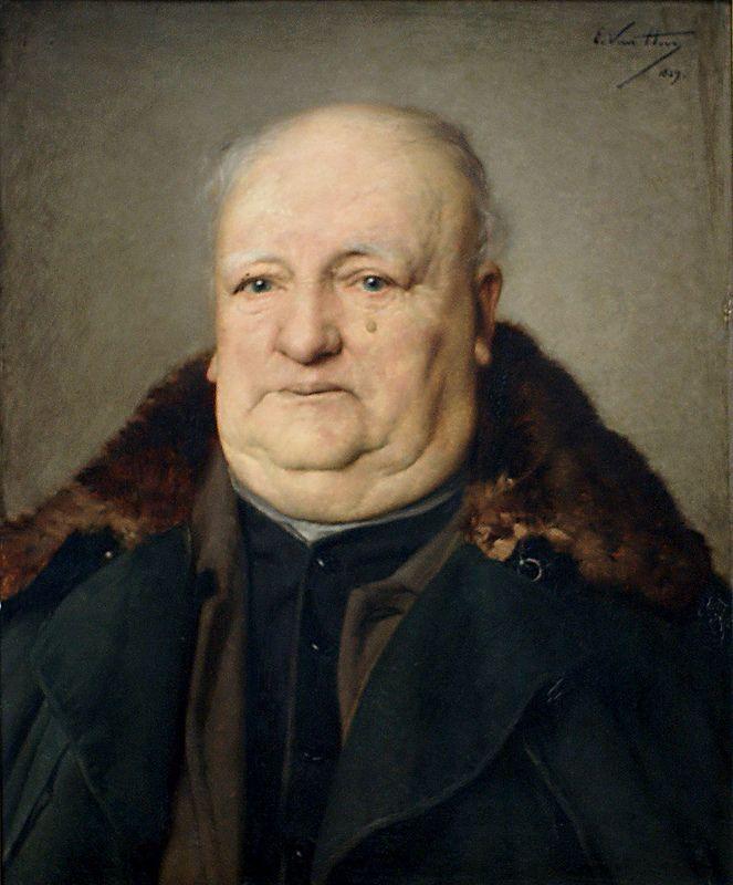 Edmond Van Hove Portrat Des Karel Recour Portrait Of Karel Recour Portrait Hove Edmond