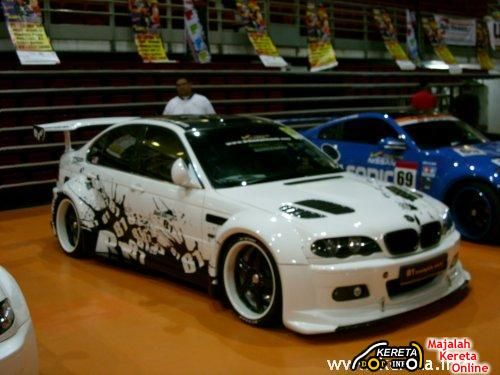 Paint Custom Car | Orange Concept On BMW 3 Series With M3 Design Body Kit.  Even The Sport .