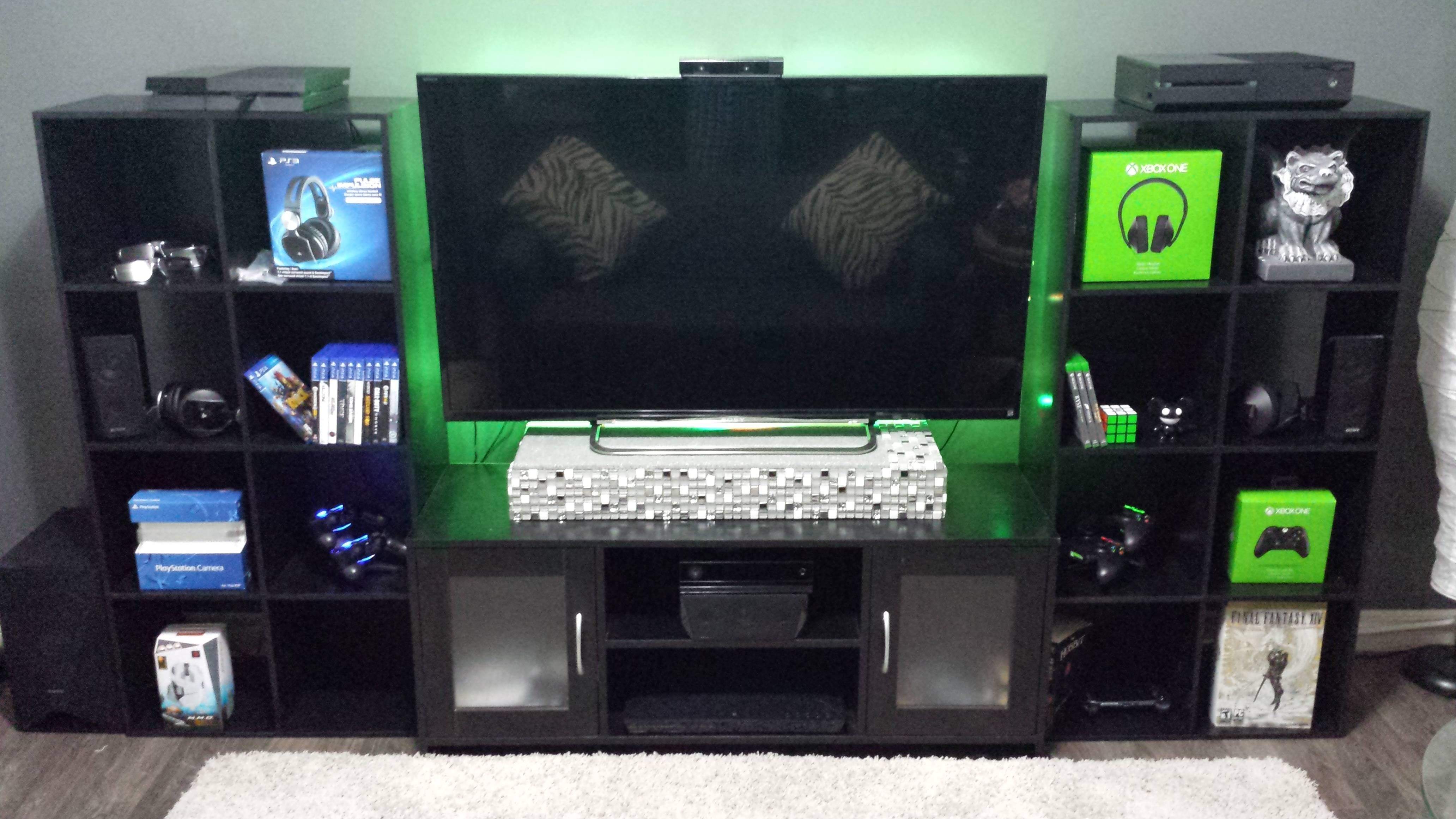 Sara elliott remember the days when people played outside and cooked inside? Video game entertainment center ideas furniture | Video ...