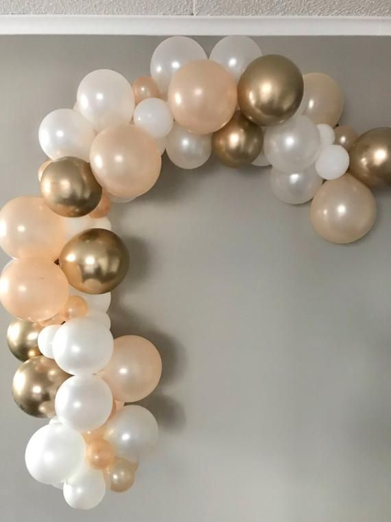 DIY Balloon Garland Kit,Gold,Champagne and Perl White,Baby Shower Balloon Arch,Birthday Balloon Garland #balloonarch