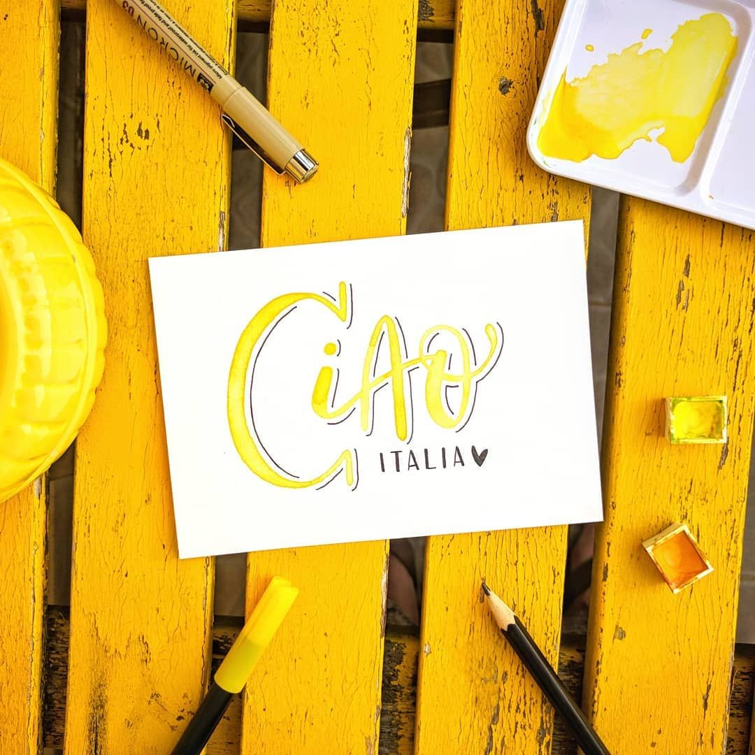 Ciao Bella Italia Once Again You Were Amazing Brushlettering Watercolor Art Handlettering By Inkerbell Desi You Are Amazing Bella Italia Watercolor Art