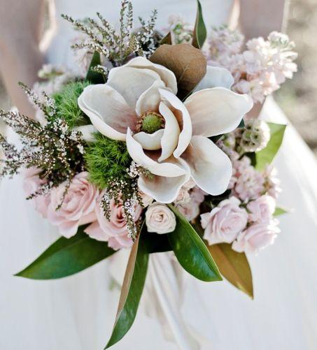 Magnolia And Rose Bouquet Flower Bouquet Wedding Magnolias Wedding Bouquet Magnolia Bouquet