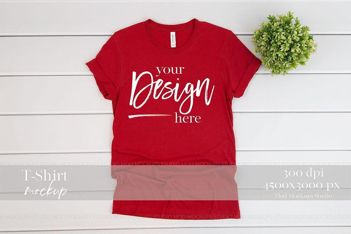 Download Canvas Red T Shirt Mockup 3001 Bella And Canvas Mock Up 257599 Mockups Design Bundles Shirt Mockup Red Tshirt Clothing Mockup