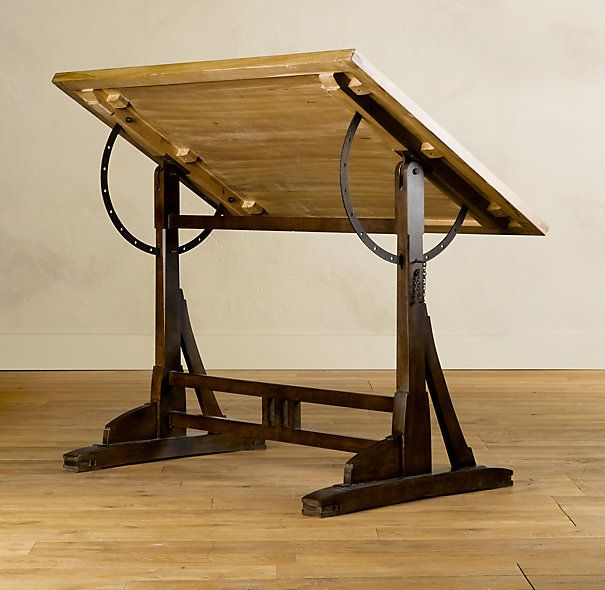 Exceptional 1920s French Drafting Table