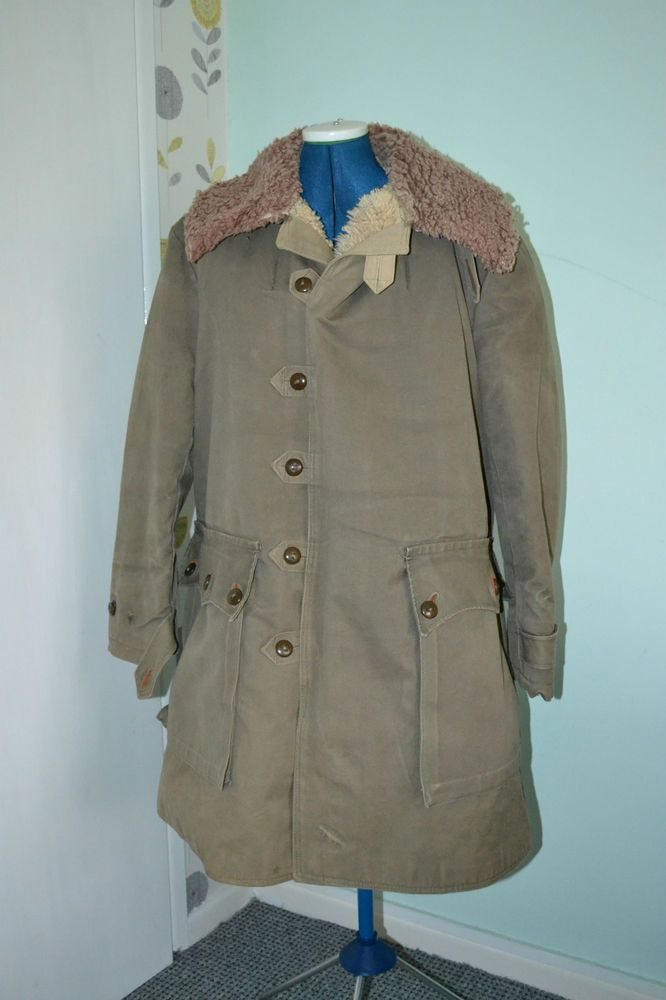 Matts Larsson War Swedish Winter Military Army Canvas Sheepskin ...