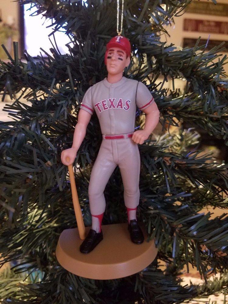 Will Clark Texas Rangers MLB Baseball Christmas Tree Ornament Gray