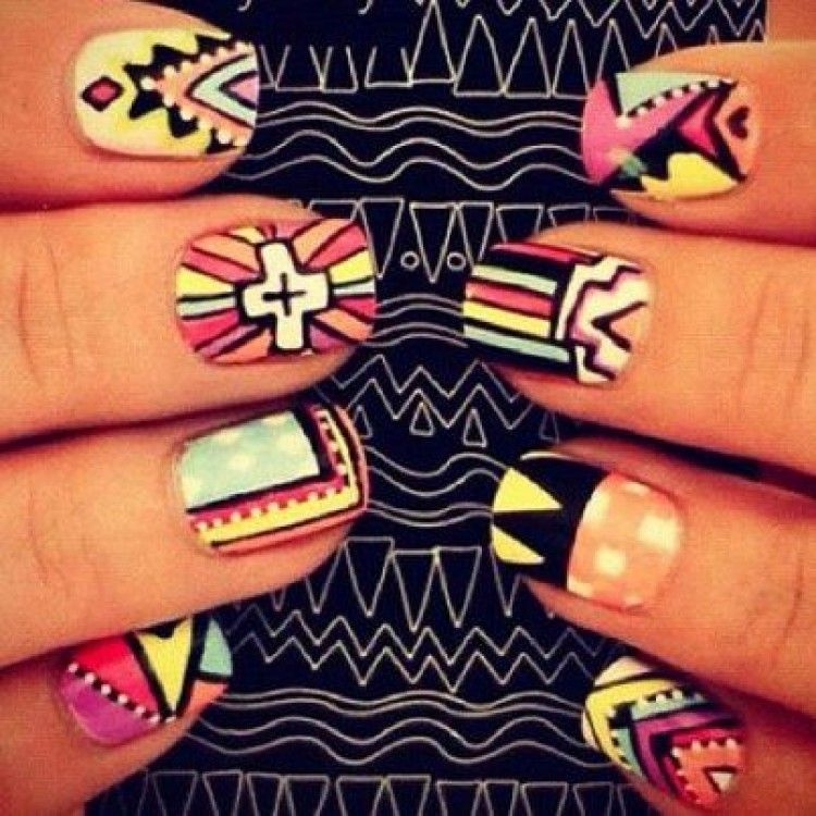 tribal nails... I want these! #tribal #style #nails #beauty #love