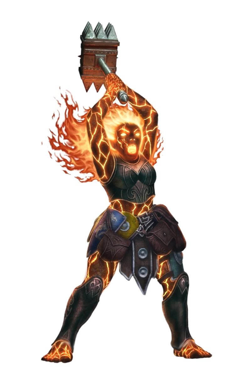Female Fire Giant Barbarian - Pathfinder PFRPG DND D&D 3.5 ...