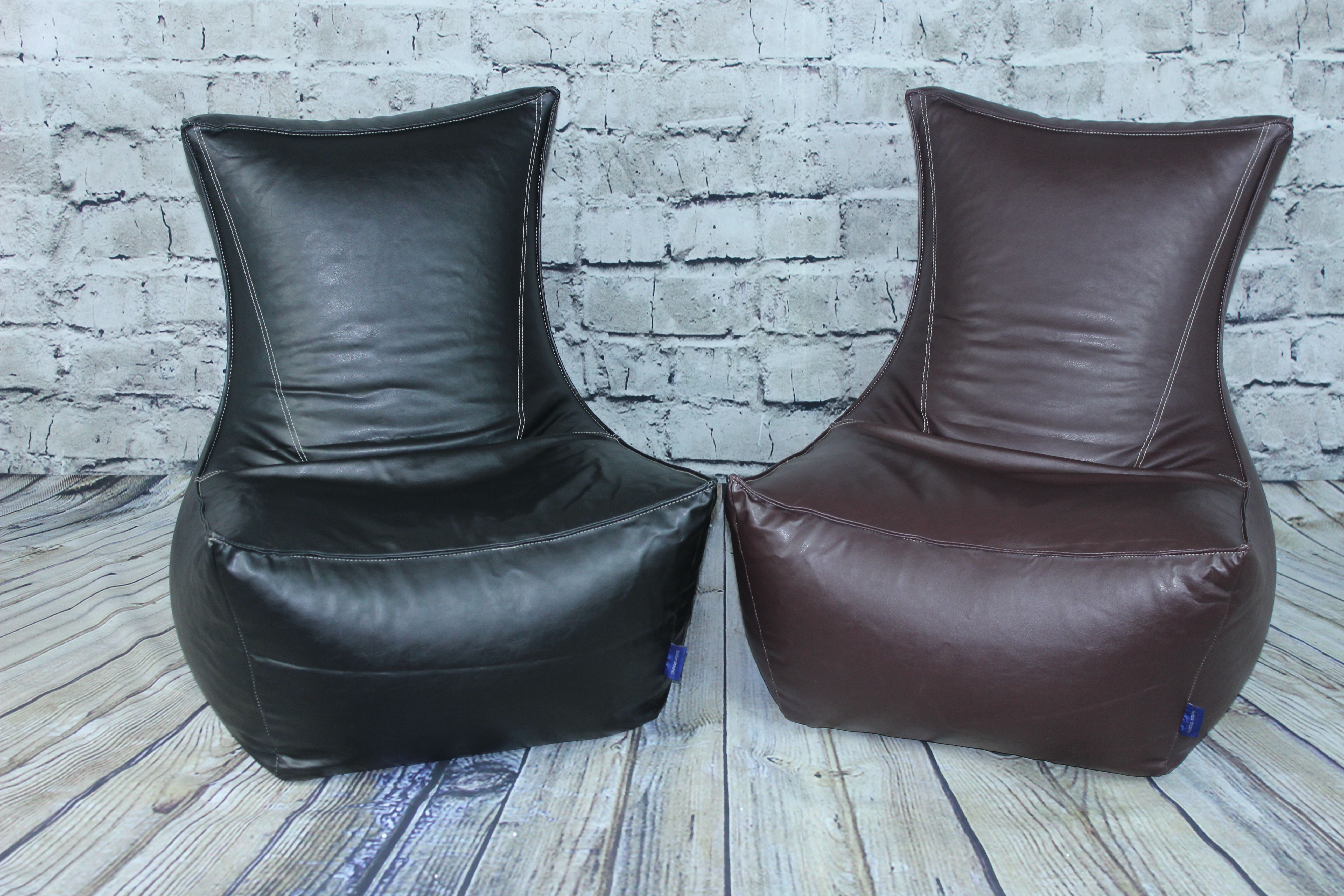Details about Faux Leather Brown Saddle Stitched Fully