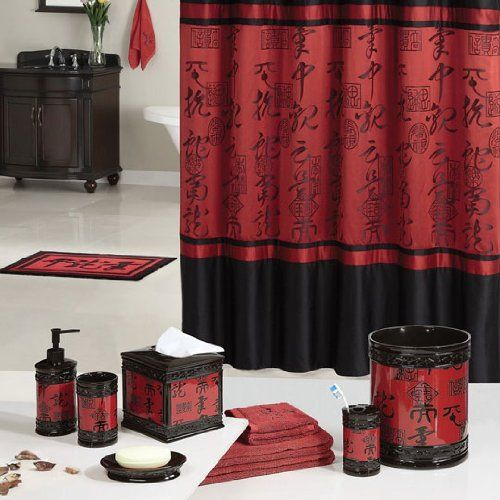 asian curtain Red shower