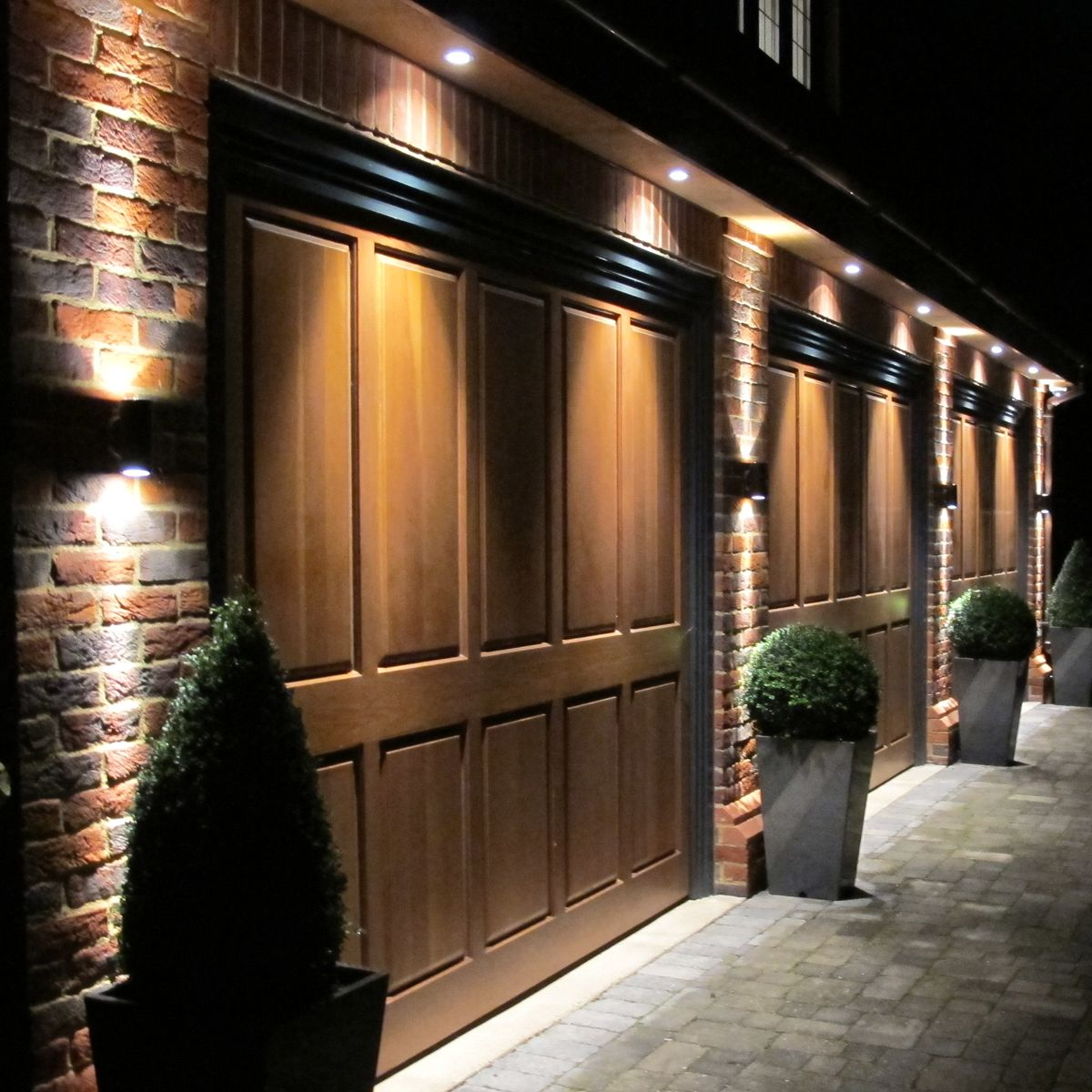 Light Up Your Garage Creatively: Waterspring LED Downlight Outside Up And Down Sconce