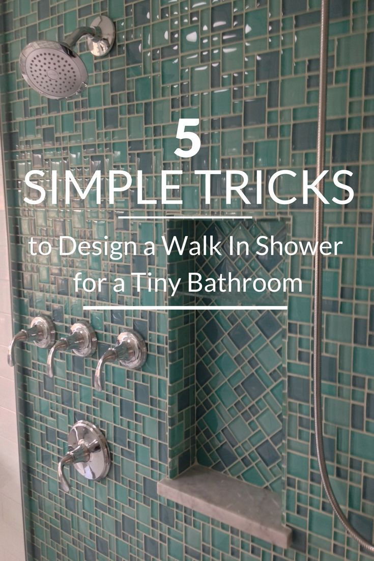 5 Simple Tricks to Design a Walk in Shower for a Tiny Bathroom #showerremodel