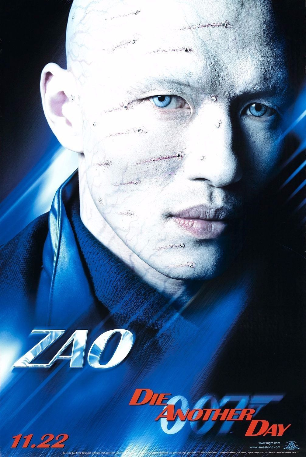 James Bond Rick Yune As Zao Die Another Day Double Sided Vinyl