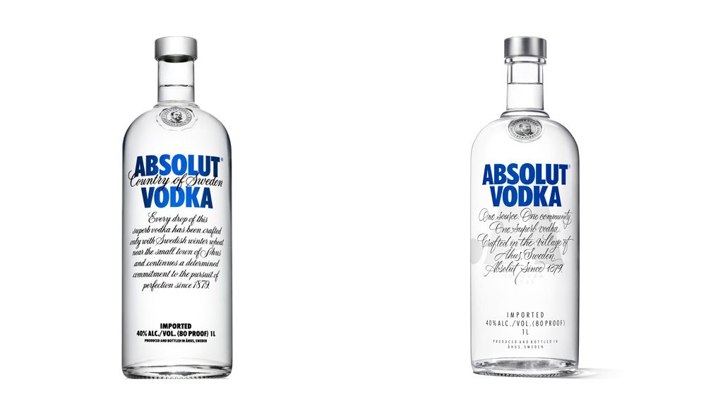 Reviewed New Packaging For Absolut Vodka By The Brand Union With