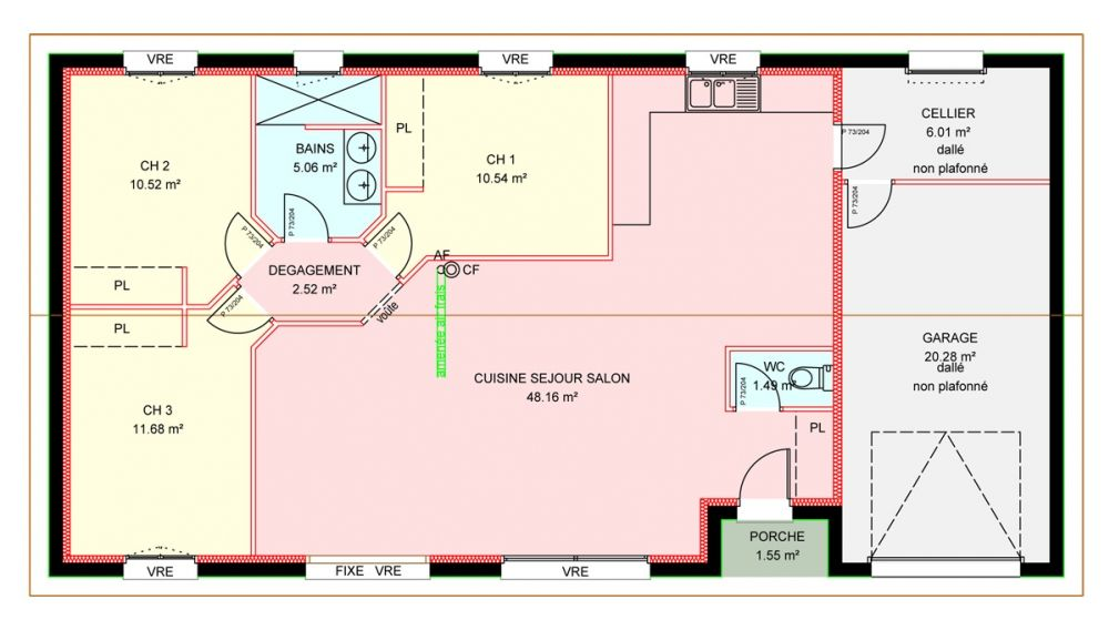 Plan Maison 90 M2 Moderne Bioclimatique Maisons Bebium 13