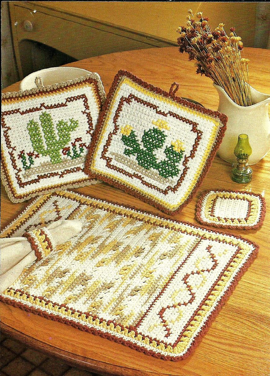 southwestern desert kitchen crochet set digital crochet etsy crochet set crochet patterns crochet