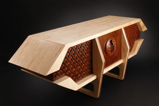 Retro Upcycled Sideboard