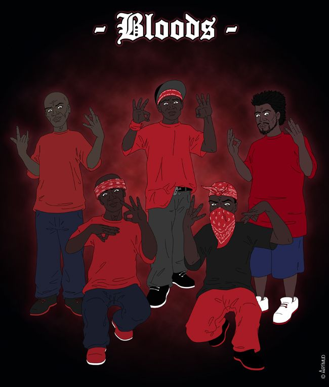 Bloods mafia gangsters pinterest blood and drawings - Blood gang cartoon ...