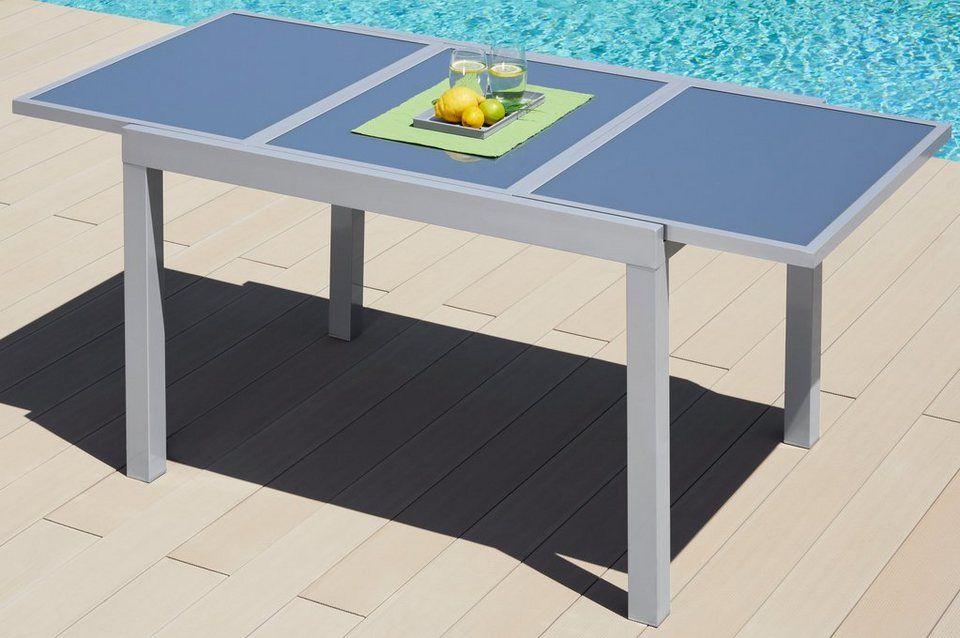 Merxx Gartentisch Amalfi Aluminium Ausziehbar Gartentisch
