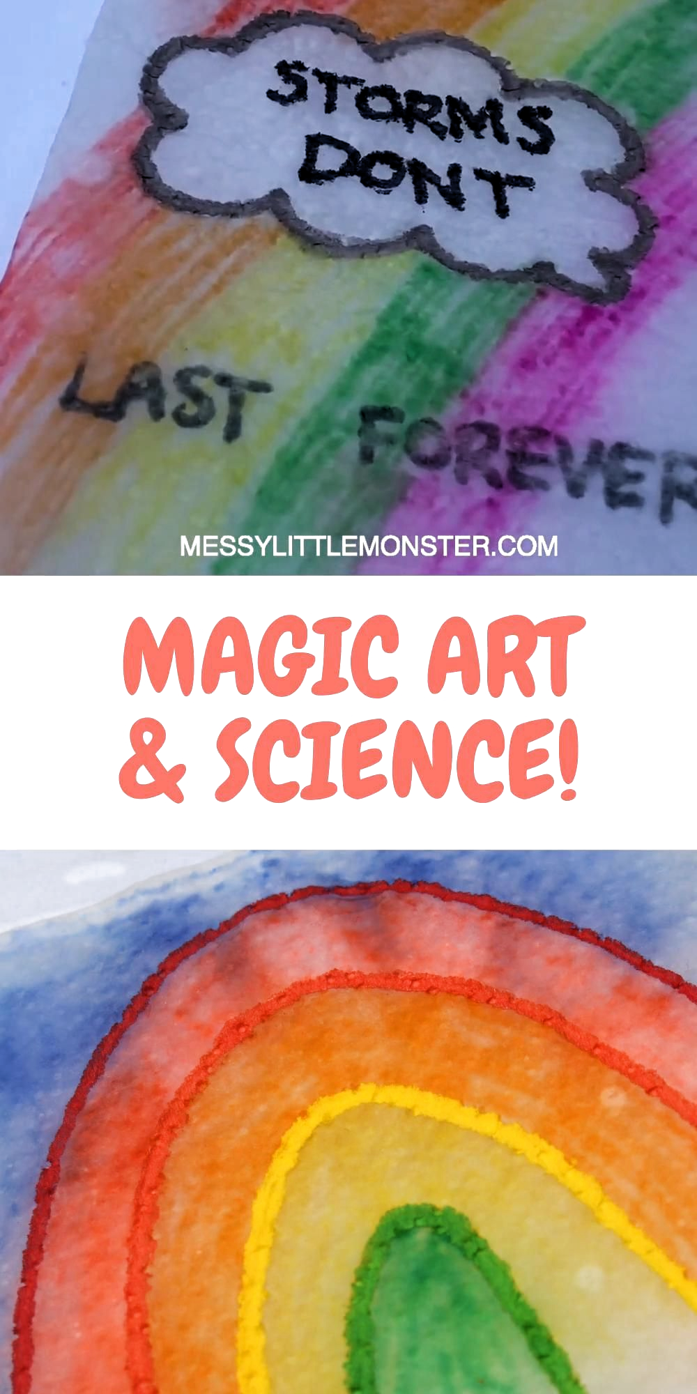 A fun science experiment and art activity for kids rolled into one. Magic paper towel art is a brilliant indoor activity for kids (or outdoor activity if you like) that kids of all ages will want to try again and again! #scienceexperiment #kidsart #kidsactivities #kidsactivity #kidscraft #scienceforkids #funscienceexperiments #papertowelart #indooractivities #indooractivitiesforkids