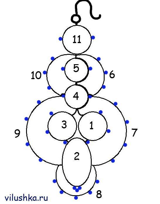 serga1S.jpg (546×696) | Фриволите | Pinterest | Occhi anleitung ...