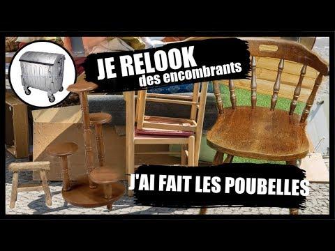 Je Relook Des Encombrants 4 Youtube Vieux Meubles Recyclage Objets Trouves
