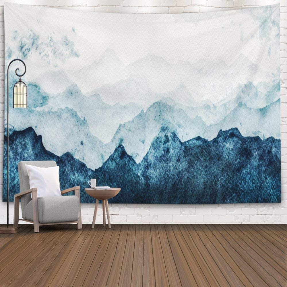 Amazon.com: EMMTEEY Blue Wall Hanging Tapestry,Tapestries ...