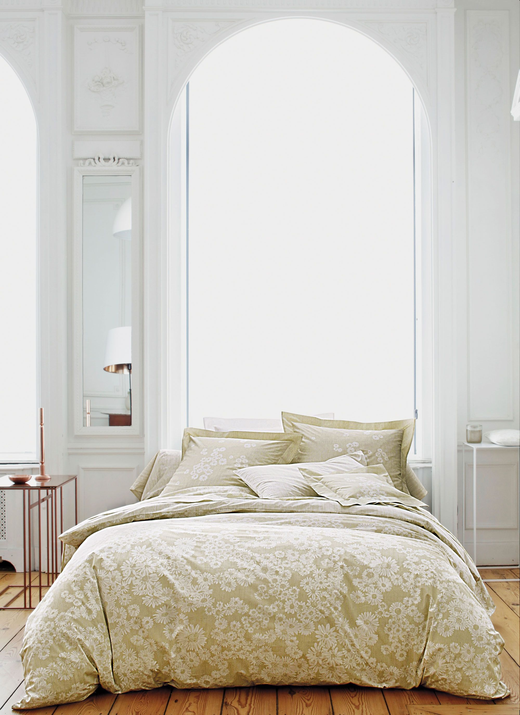 """Literie De Luxe Suisse linge de lit blanc des vosges """"dans les pres"""" chanvre"""