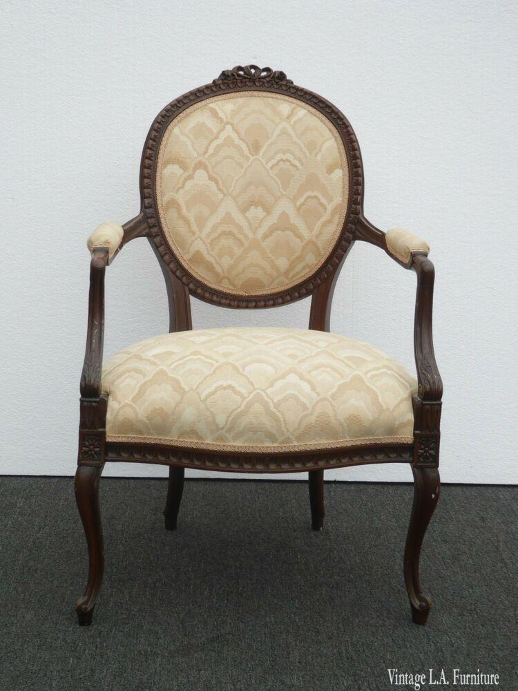 Antique vintage french provincial ornately carved off