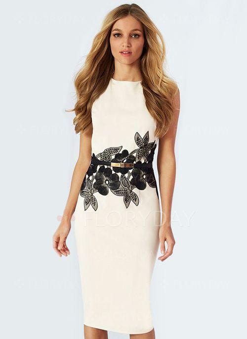 509b5667d93 Dresses -  29.12 - Cotton Polyester Floral Sleeveless Knee-Length Elegant  Dresses (1955100176)