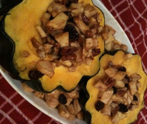 Apple Stuffed Acorn Squash Recipe Acorn Squash Recipes Squash