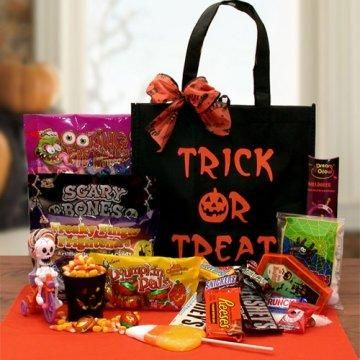 Trick Or Treat Halloween Gift Tote.  Trick or treat, smell my feet, Mobile Theory's got your treat!