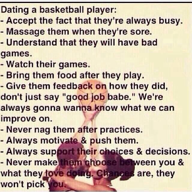 tips for dating a basketball player