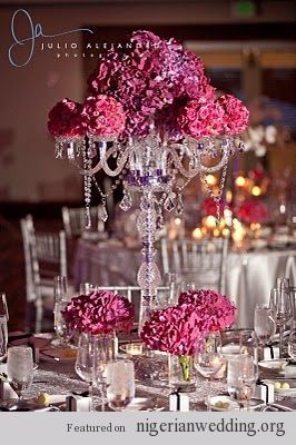 Nigerian Wedding Chandelier Centerpiece 8 Centros De Mesa Para