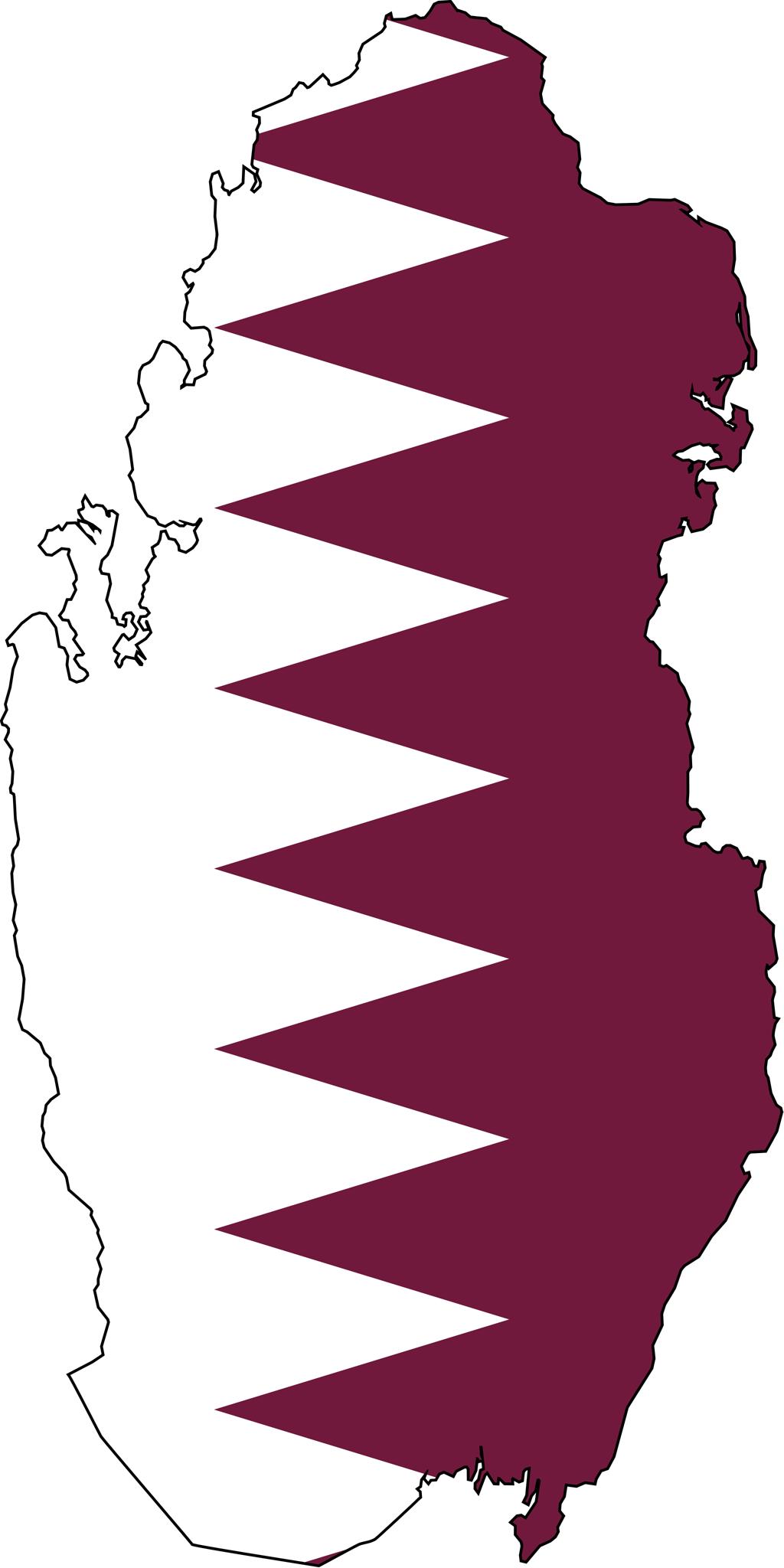 Qatar Flag Map Qatar Flag Qatar National Day Map