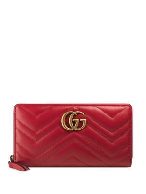 f7920748836 GUCCI GG Marmont Matelassé Leather Zip-Around Wallet.  gucci  wallet ...